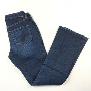 Jag Jeans Womens 4P 4 Petite Low Rise Bootleg 26